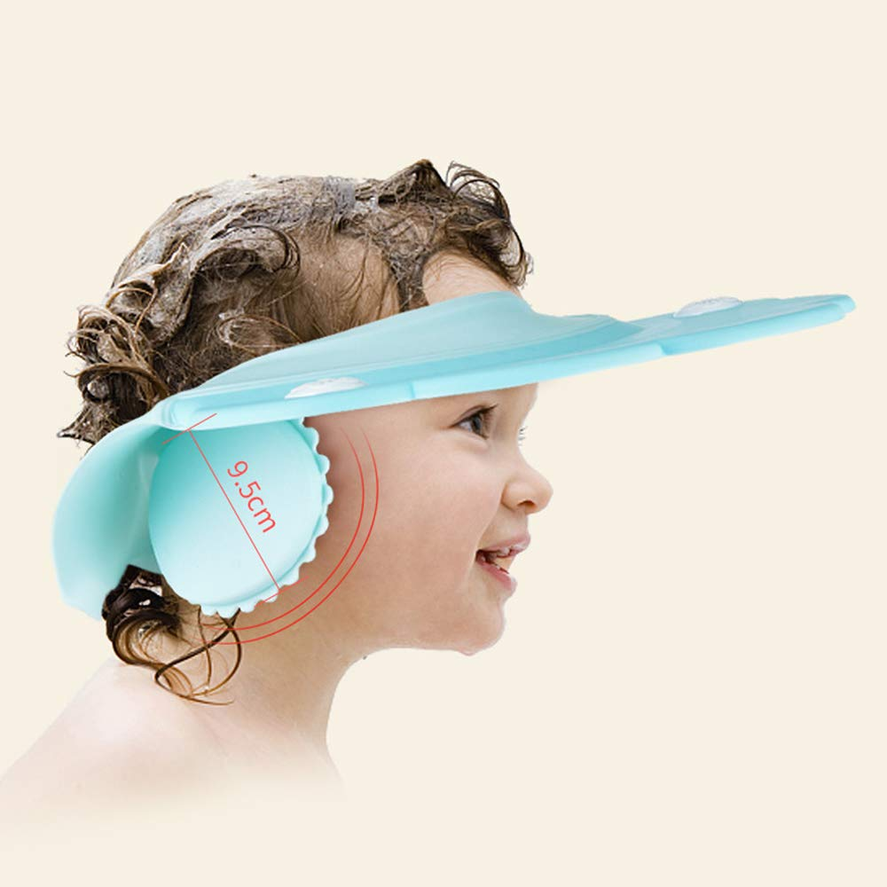 Baby Bath Cap wash Shower Shampoo Visor hat Prevent Water Entering The Eyes and Ears Adjustable Bathing tub Head Hair Rinser Shield Protection Kids Children Toddler by AMTOOCH