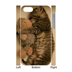 T-TGL(RQ) Customized Cat Pattern Protective Cover Case for Iphone 4/4S 3D