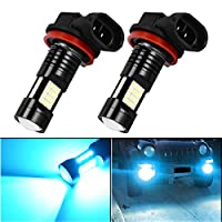 YITAMOTOR H8 H11 H16 LED Fog Light Lamps Bulbs Ice Blue with Projector 1000 Lumens, 10v-30v, 3030 36-SMD Extremely Super Bright, 25000k (H8/H11/H16)