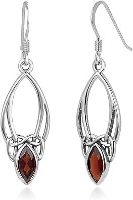 925 Sterling Silver CELTIC KNOT Dangle Hook Earrings