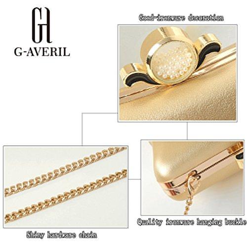 G-AVERIL - Bolso mochila  para mujer negro negro dorado