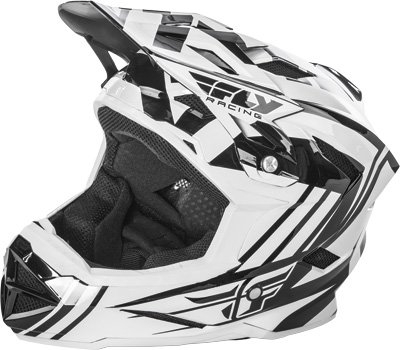 Fly Racing Unisex-Adult Full-Face-Helmet-Style Default Helmet (White/Black, Youth Large)