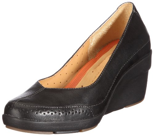 Clarks Un Claudia 203479824 Damen Halbschuhe Schwarz/Black Leather