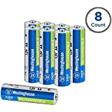 Westinghouse Rechargeable Battery, high Capacity 2400mAh NH Rechargeable Battery, 1 Year Low self Discharge (AA, 8 Counts)
