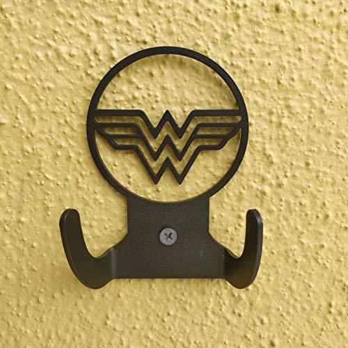 2 Hole for Mounting HeavenlyKraft Superhero Steel Wall Hook Dual Holder for Living Room Hat Robe Hanger Bathroom Towel Kitchen Strong Garage Storage Organizer Hook 4 X 3.14 X 1.4 Inch