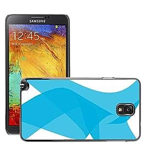 Etui Housse Coque de Protection Cover Rigide pour // M00152759 Fondo Moderno azul claro // Samsung Galaxy Note 3 III N9000 N9002 N9005
