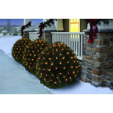 Holiday Time Christmas Net Light Set Clear Bulbs,150 Count (Set of 5) by Holiday Time