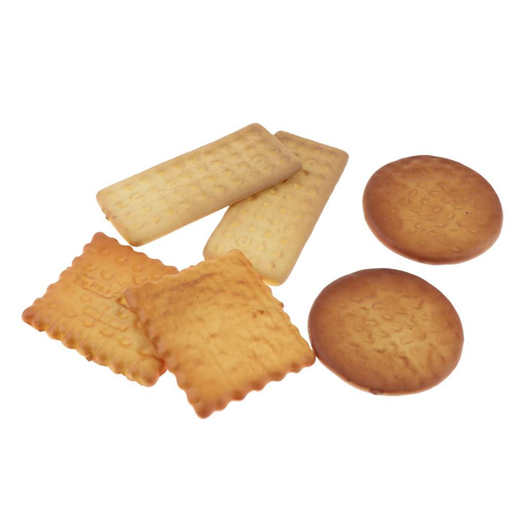 Biscuit Jaune B Blesiya Artificielle Faux Biscuits Mod/èle Simulation Alimentaire Maison Cuisine Photographie Props D/écor