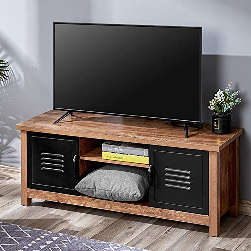 Kealive TV Stand Wood Rustic Entertainment Center for Flat Screens up to 50