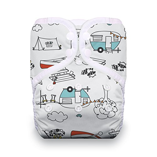 Thirsties TNATOSAIOPSSD Package Snap Natural One Size All In One Sweet Dreams Collection Diapers
