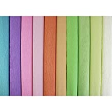 Just Artifacts 180 Gram Italian Crepe Paper Rolls - 8ft Length/20in Width (10pcs, Color: Assorted 2)