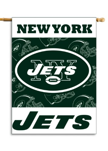 Fremont Die NFL New York Jets 2-Sided 28-by-40-Inch House Banner ()