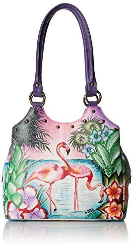 anuschka-handpainted-leather-triple-compartment-medium-satchel-tropical-flamingo