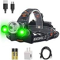 Boruit RJ-3000 LED Headlamp with Green Light