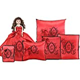 Quinceanera Complete Doll Photo Album Guest Book Kneeling Tiara Pillow Bible Q1046 (Basic set + Spanish Bible)