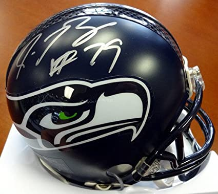 22e80ee6d8d Amazon.com  Red Bryant Signed Seattle Seahawks Replica Mini Helmet -  Autographed NFL Football Helmets  Sports Collectibles