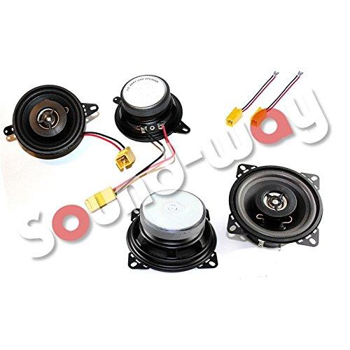 4 altavoces Fiat Punto 1 –  Altavoz a medida, 8,7 cm Sound-way