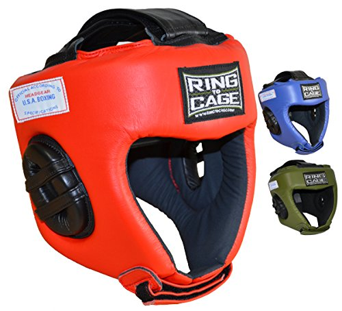 USA BOXING APPROVED Competition Headgear - 3 Colors (Red, Medium)