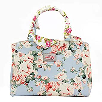 Jane Lily Baguette Bags for Women - Canvas, Light Blue