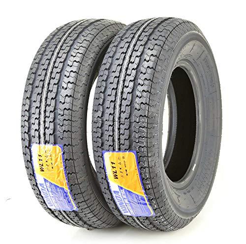 2 New Premium Trailer Tires ST 205 75R15 / 8PR Load Range D Steel Belted (15 Inch Trailer Tires Load Range D)