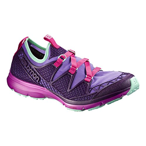 Salomon Womens Crossamphibian W Outdoor Watershoe Rain Purple / Cosmic Purple / Hot Pink