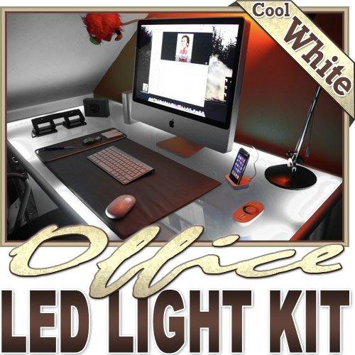 Biltek 6' ft Cool White Office Light LED Lighting Strip + Dimmer + Remote + Wall Plug 110V - Under Desk Hutch Drawers Bookshelf Reading Glass Case Reading Night Lamp 3528 SMD Flexible DIY 110V-220V -  KapscoMoto, 0069805613570