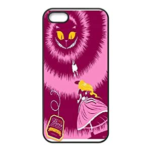 [QiongMai Phone Case] For Apple Iphone 5 5S Cases -Alice and Cheshire Cat Pattern-IKAI0447779