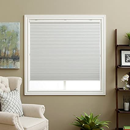 PH 1 Piece 255 W X 72 H Inches White Blinds Home Decor Honeycomb Cell