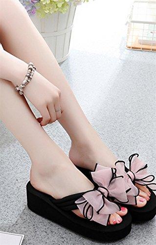 Las sandalias del verano de las señoras los pies antideslizantes del clip refrescan los zapatos de la playa del talón de la cuesta de los deslizadores 3