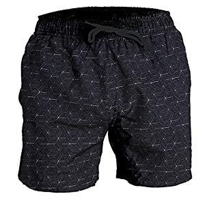 Fort Isle Mens Stretch Swim Trunks – Prints – Quick Dry 4-Way Stretch – Beach Bathing Suits Shorts