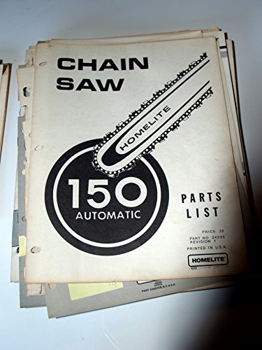 Homelite 150 Automatic Chain Saw Parts Manual List