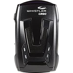 Whistler CR90 High Performance Laser Radar Detector: 360 Degree Protection, Voice Alerts, and Internal GPS