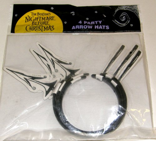 (Tim Burton's Nightmare Before Christmas Set of 4 Party Arrrow Hats by)