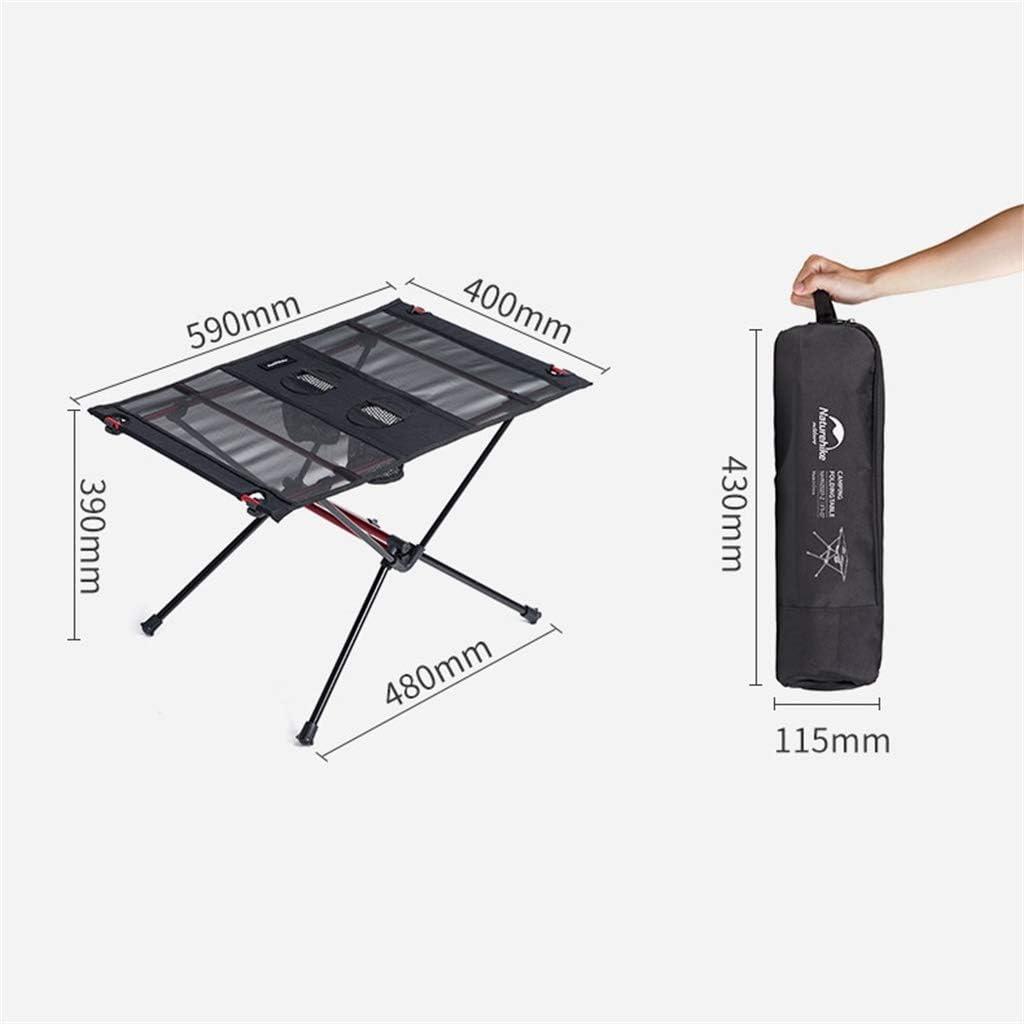 Mesa de camping plegable peque/ña port/átil de aleaci/ón de aluminio para picnic