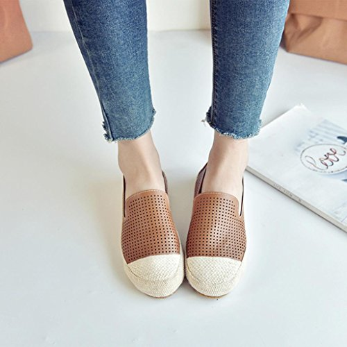 e2dc1748b0e20 Ecurson Summer Slip On Flats Fisherman Shoes Woman Casual Spring Women  Breathable Flat Shoes Comfy For Pregnant Women For office Lady Work Wear  (5, ...