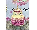 (set of 5) Handmade Gold Unicorn Birthday Cake