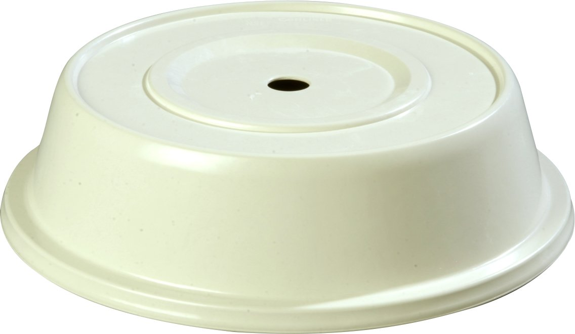 Carlisle 91070202 Polyglass Plate Cover 10-1/4 to 10-5/8, Bone (Pack of 12) Carlisle FoodService Products