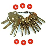 MSPowerstrange Professional Padlock 12 Keys Depth Key Set with Bump Rings