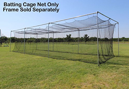 Select #42 Twisted Poly Batting Cage Nets Only with Free 4x6 Heavy Vinyl Backstop