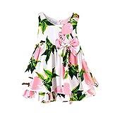 Girls Dress, Perman Toddler Baby Girl Summer Cartoon Lemon Print Sun Dresses (18-24Months, Pink)