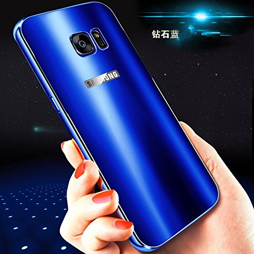 quality design dd677 4eab7 Galaxy S7 Case, Lwang 2 in 1 Luxury Aluminum Metal Bumper Shockproof  Protective Hard Back Case Cover for Samsung Galaxy S7 (color blue)