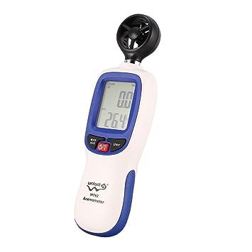 Ballylelly WINTACT WT82 Anemómetro Digital Datos de Temperatura/Velocidad Velocidad del Viento Anemómetro Anemógrafo Apagado automático: Amazon.es: Deportes ...