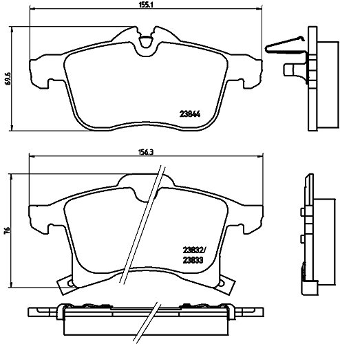Kit Disques plaquettes de frein brembo