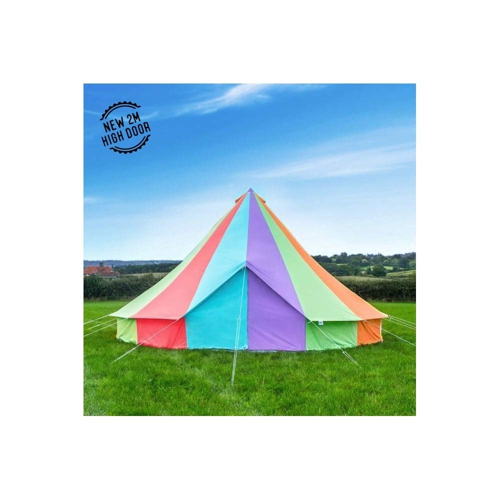 Boutique Rainbow Bell Tente de Camping avec Fermeture éclair en Sol 6 Metre  -