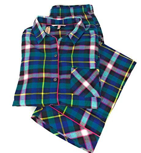 (Victoria's.. Secret Flannel Pajama Set Long Sleeve PJ)