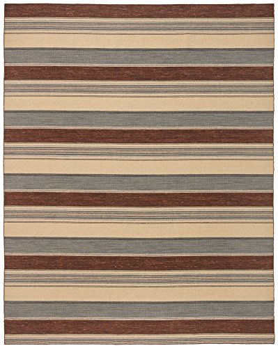 Stone & Beam Modern Striped Rug, 8' x 10', Beige by Stone & Beam
