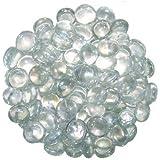 Stoned Galets décoratifs ronds en verre Transparent 1 kg 15-20 mm