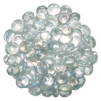 STONED® Galets Décoratifs Ronds en Verre Transparent 1 kg 15-20 mm ...