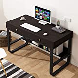 ZHOU2# Desktop Computer Desk with 2 Drawers, Home