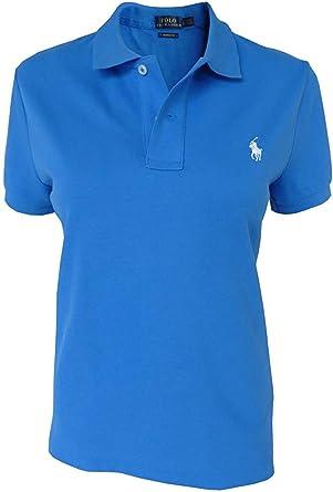 Polo Ralph Lauren Camisa de Polo T.M, Polo Flequillo, Azul, Ajustado: Amazon.es: Ropa y accesorios